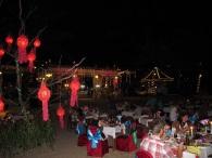 dineren aan het strand